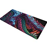 16in35.5in The Most fire Hyper Beast CS GO Large 3D Mouse Pad Overlock Edge Big Gaming Mouse Pad...