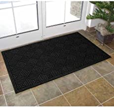Apache Mills Textures Crosshatch Entrance Mat, 3-Feet by 5-Feet, Charcoal