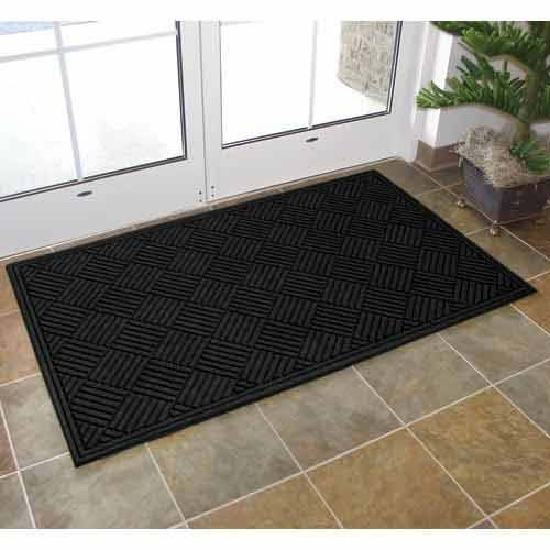 Apache Mills Textures Crosshatch Entrance Mat, 3-Feet by 5-Feet, Charcoal