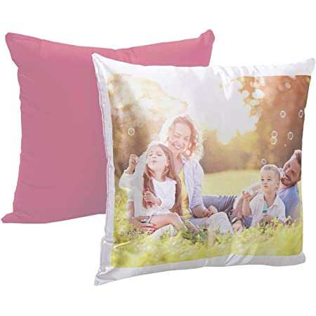 Cuscino Personalizzato Con Foto Con Imbottitura Quadrato 40 X 40 Cm Colore A Scelta Rosa Amazon It Casa E Cucina