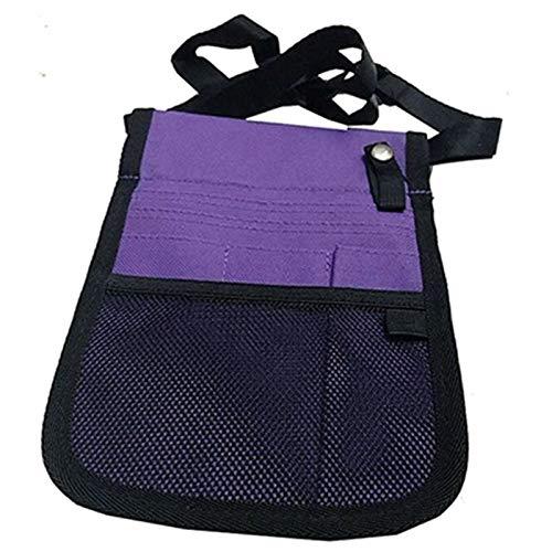 ZRDY Gürteltasche Krankenschwestertasche for Tragbare Werkzeug Quick Pick Tasche Frauen Tasche Kleinen Gürtel Organizer Geldbörse Weibliche (Color : Purple)