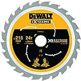 Dewalt DT99568-QZ DT99568-QZ-Hojas para Sierra Circular Estacionaria XR Extreme RUNTIME 216mm x 30mm 24D 7º, 0 W, 0 V, Negro/Amarillo, 216/30mm 24WZ/FZ