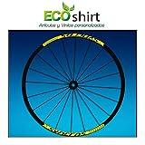Ecoshirt AP-DCUD-91DX Pegatinas Stickers Llanta Syncross 26' 27,5' 29' Am47 MTB Downhill, Amarillo 27.5'