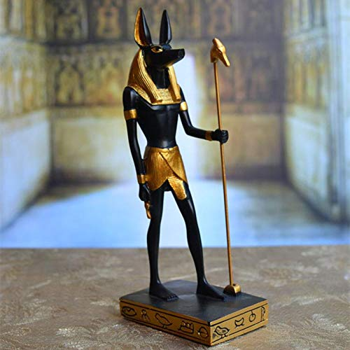 MNHJG Estatua Anubis Statue & amp; Sculpture God Adornos Resin Craft Home Decoration Accessories, Negro, 12.5X8.5X29.5 CM
