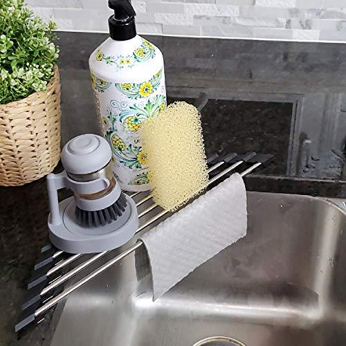 Roll Up Sponge Holder for Counter, Sink Organizer...