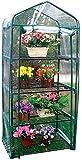 AMhuui Mini Green House Pop Up Gewächshaus Kleine Indoor Outdoor Gartenblumentopf-Abdeckung Hinterhof-Blumen-Shelter Klar faltbare bewegliches Gewächshaus Kleine