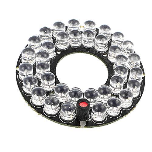 X-DREE Modulo di scheda LED a infrarossi IR a basso consumo di array 36 LED per telecamera CCTV(Array 36 Módulo de tablero de luz infrarrojo IR de baja potencia para cámara CCTV