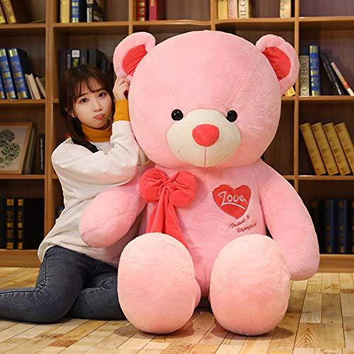 N / A Hochwertiger Teddybär mit Schal Kuscheltiere Bär Plüschtier Teddybär Puppenliebhaber Geburtstag Baby Geschenk 80cm