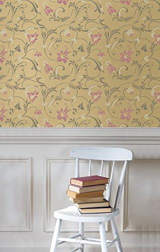 Flourish Allover Wall Free shipping New Stencil - and Wallpaper Genuine Flower Design Vine