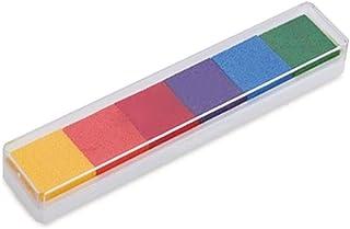6 Colores Huella dactilar Almohadilla de Tinta No Tóxico Bricolaje Vistoso Almohadilla de Tinta para Sello de Goma Arte �lbum de Recortes Fabricación de Tarjetas por SamGreatWorld