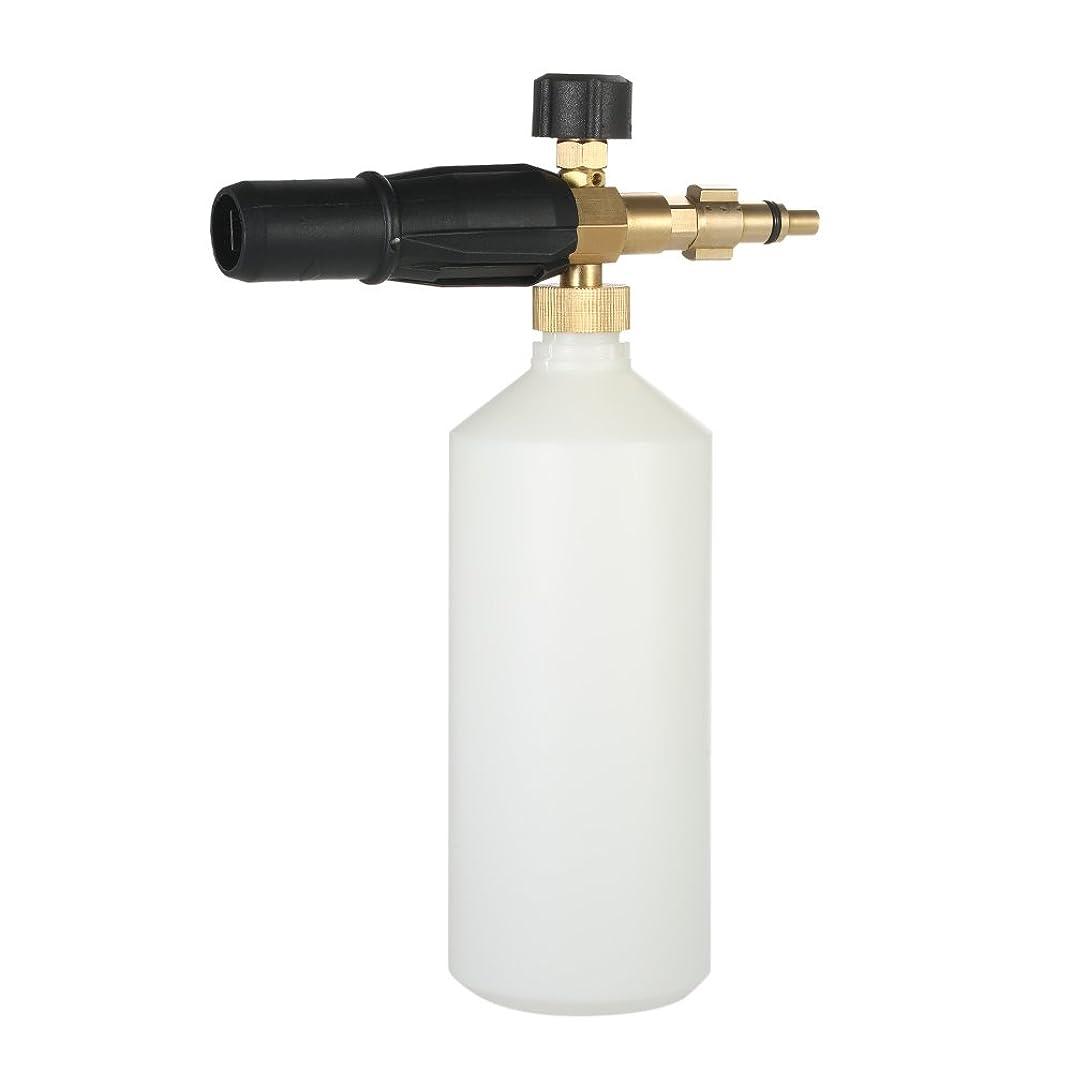 ガロン入浴うまくいけばKKmoon 洗車 フォームガン 泡発生機 1Lボトル フォーム調節可能 スノーフォームノズル ウォッシュガン 高圧クリーニングガン適応