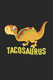 Tacosaurus: 6x9 Fancy Design | blank with numbers paper | notebook | notes