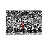 ZHENGDONG Póster de Michael Jordan The Shot en lienzo y arte de pared, diseño moderno de la familia de 30 x 45 cm