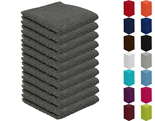 10er Pack Seiftücher, Seiflappen in vielen Farben 30x30 cm Anthrazit 100{bc40df6b0120f6256649ddd4b4fd18f880779275de3d338f9b27bdd638f9404a} Baumwolle