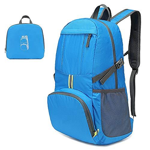 Lixada Wanderrucksack Rucksack 35L Leichte Klapprucksack Wasserabweisende Tasche Pack für Camping Wandern Reisen Schule