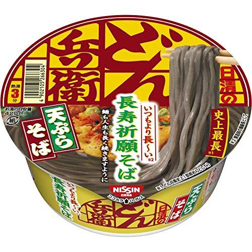 日清 どん兵衛 天ぷらそば いつもより長い長寿祈願そば 100g ×12個