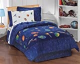 dream FACTORY Boys Outer Space Satellites Blue Bed in a Bag