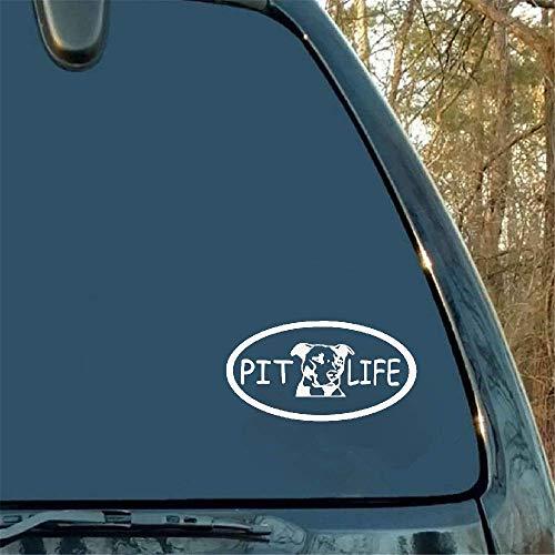 Pit Life Pitbull Truck Boot Raamembleem, autosticker, stickers en styling-accessoires, zwarte fender, achterabteken, 17,8 x 9,5 cm