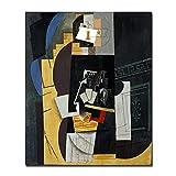 Dabbledown Impresión de Lienzo Póster de Instrumentos Musicales de Pintura Famosa de Picasso Abstracto e Imagen Impresa para la decoración de la habitación 60X90CM