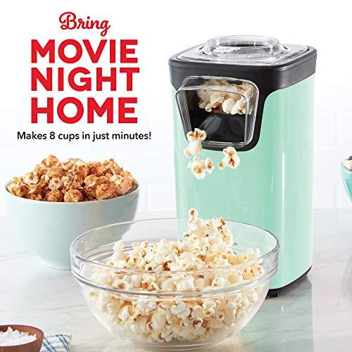 Product Image 4: DASH DAPP155GBAQ06 Turbo POP Popcorn Maker, 8 Cups, Aqua