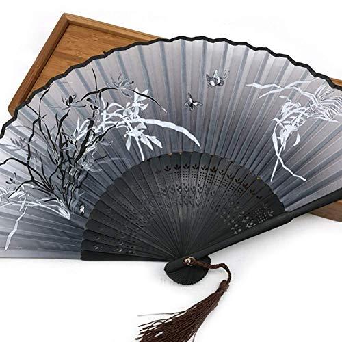WCY Ventilador de impresión de la Mariposa de la Historieta Plegable Hueco Tallado a Mano Fan de la Mano de Navidad favores favores decoración yqaae (Color : 3)