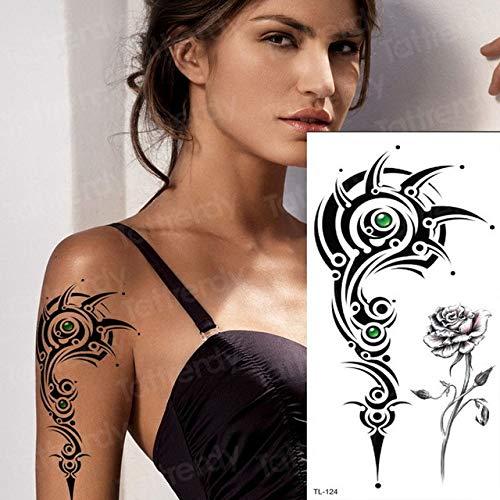 tzxdbh 3Pcs-sternal temporäre Tätowierung Tattoo Brust Blume Geometrie weibliche Tätowierung Aufkleber Bikini Dreieck Tattoo Strand Kunst - 3Pcs-