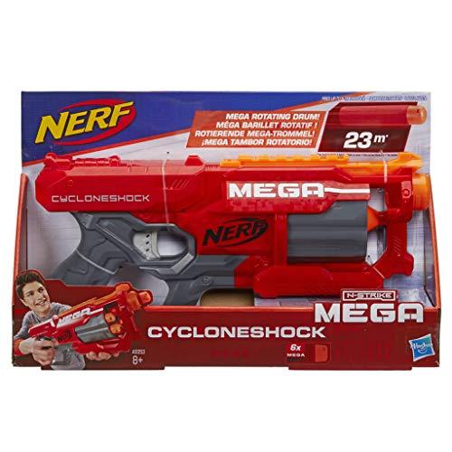 Hasbro A9353EU6 - Mega CycloneShock speelgoedblaster, met grote darts