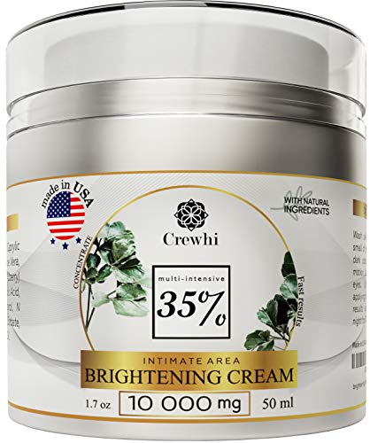 Brightening Skin Cream for Sensitive Areas Dark Spot Corrector - Dark Spot removal for Men and Women - Bright Gel for Face, Bikini - Skin Care & Natural Product - 35% percent