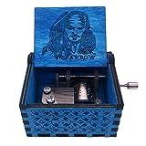 Siqi Caja de música de Madera Tallada Antigua con diseño de Jack Sparrow