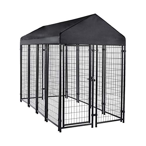 Amazon Basics Welded Outdoor Wire Crate Kennel, Large (102 x 48 x 72 Inches)