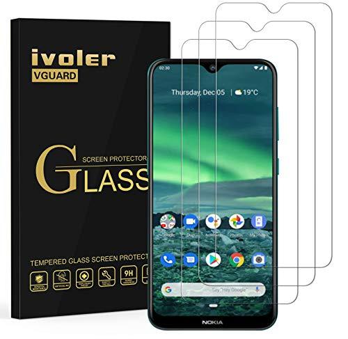 ivoler 3 Stücke Panzerglas Schutzfolie für Nokia 2.4, Panzerglasfolie Folie Bildschirmschutzfolie Hartglas Gehärtetem Glas BildschirmPanzerglas Bildschirmschutz für Nokia 2.4