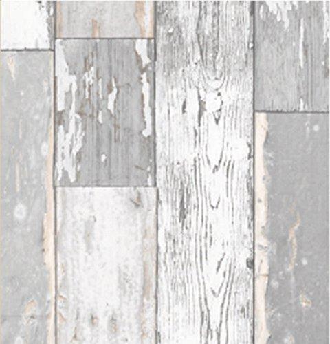 i.stHOME Klebefolie Scrapwood hell grau 90x200 cm - Möbelfolie selbstklebend altes Holz rustikal - Dekofolie Möbel Selbstklebefolie Bastelfolie