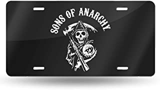 HUANGHOUSTORE Sons of Anarchy License Plate Personalized - Automotive High Gloss Metal License Plate.Aluminum License Plate, Front License Plate - 6