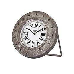 IMAX 88710 Mabrey Galvanized Desk Clock