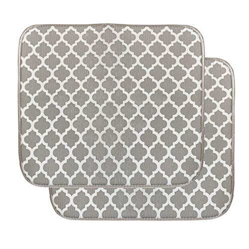Microfiber Dish Drying Mat, 2Pcs Quick-Drying Dish Pad,Kitchen Dish Drying Drainer Mat Absorbent Drying Mat for Kitchen Counter-top Tabletop Accessories,40cm x 45cm