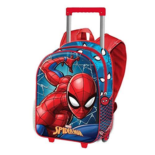 Spiderman Superhero-Mochila 3D con Ruedas (Pequeña)