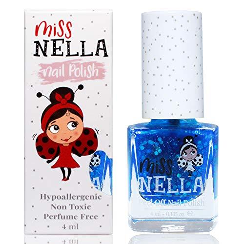 Miss Nella COOL KID- Spezieller Blau Nagellack für Kinder, Peel-Off-Formel, wasserbasiert und geruchsneutral