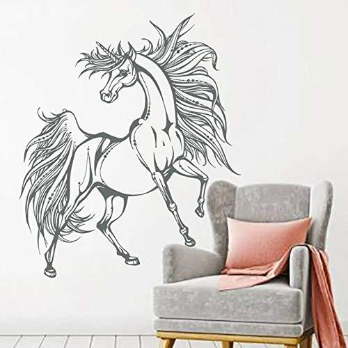 HGFDHG Arte Creativo Moda Unicornio Pegaso Pegatinas de Pared Pegatinas de Vinilo Boho Decoración de la habitación de los niños