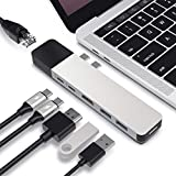 HYPER Drive Hub USB C, Adaptador del Cubo Doble Tipo C para Macbook Pro, 6 en 2 Multi-Puerto Thunderbolt USB-Dongle w Gigabit Ethernet, 100W de 40 GB/S C-USB, 5 GB/S-Type C 60W PD, 4K Hdmi