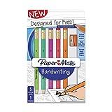 Paper Mate Handwriting Triangular Wood case Pencil Set with Sharpener, HB #2, Fun Barrel Colors, 6 Count (2017521)