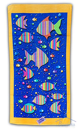Drap de plage Poissons Cartoon mesure Grande cm.85 x 165