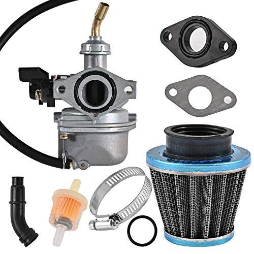 ATV PZ19 Carburetor Compatible with CRF ATV Dirt Pit Bike Taotao 50cc 70cc 80cc 90cc 110cc 125cc - Trkimal Carb together with Fuel Filter 35mm Air Filter and Gasket.