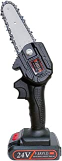 Chainsaw Mini Chainsaw, Stroke Engine Guide Plate Chain Saw, Lithium-Ion Cordless Chain Saw for Tree Branch Wood Cutting C...