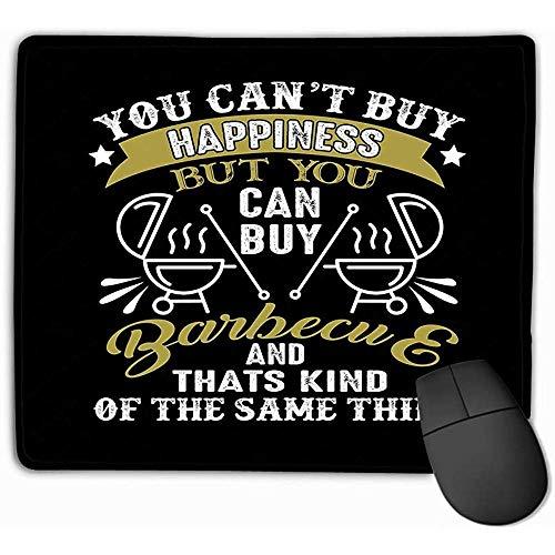 Muis Pad Voedsel Drink Quote Goede Print Ontwerp U kunt t Kopen Geluk Barbeque Kind Hetzelfde ding Rechthoek Rubber Mousepad 30X25CM