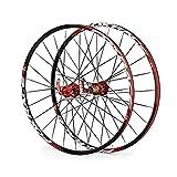 ZNND Montaña Ruedas De Bicicleta, 26 Pared Doble Llanta De MTB Lanzamiento Rápido V-Brake Ruedas De Ciclismo Híbrido 24 Hoyos Dto 8 9 10 Velocidad 135mm (Color : A, Size : 26inch)