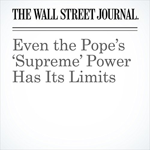 Even the Pope's 'Supreme' Power Has Its Limits copertina