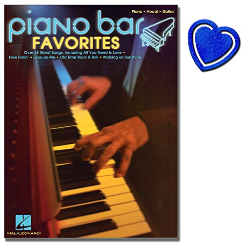 Piano Bar Favorites - Songbook - 45 Klassiker im Bar Piano Stil für Klavier, Gesang, Gitarre - [ Noten/Sheetmusic ] mit bunter herzförmiger Notenklammer