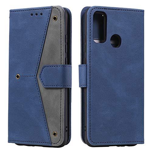 HOUSIM Hülle für Moto G30 / G10 Handyhülle mit Kartenfach Klappbar Schutzhülle Leder Tasche Flip Hülle für Motorola Moto G30 / G10 - HOHHA180502 Blau