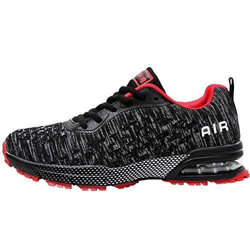 QAUPPE Mens Air Running Shoes Athletic Trail Tennis Sneaker (BlackRed US 7.5 D(M)…