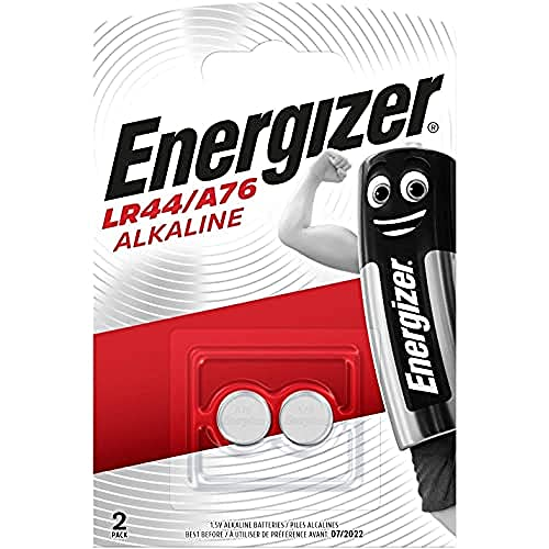Energizer LR44/A76 Piles Alcalines, 1.5V, Lot de 2